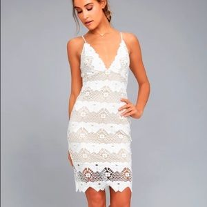 Lulus - sway away White Crochet Dress - S